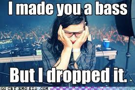 I made you a bass but I dropped it - skrillex