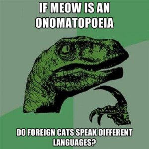 IF MEOW IS AN ONOMATOPEIA, DO FOREIGN CATS SPEAK DIFFERENT LANGUAGES?