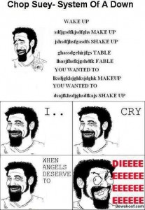 System of a down rage faces
